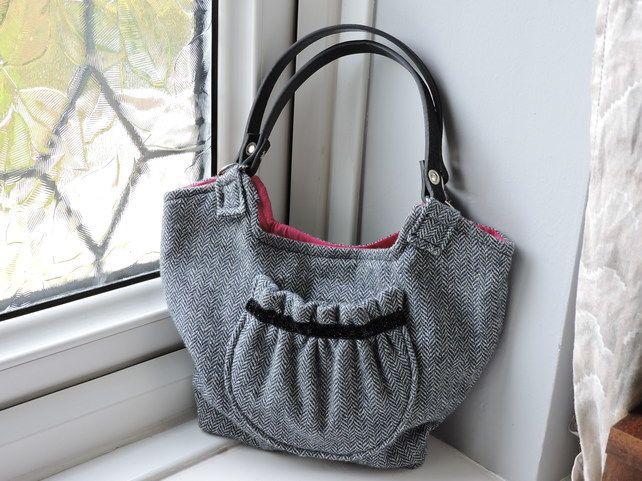 Recycled Herringbone Tweed Handbag £20.00