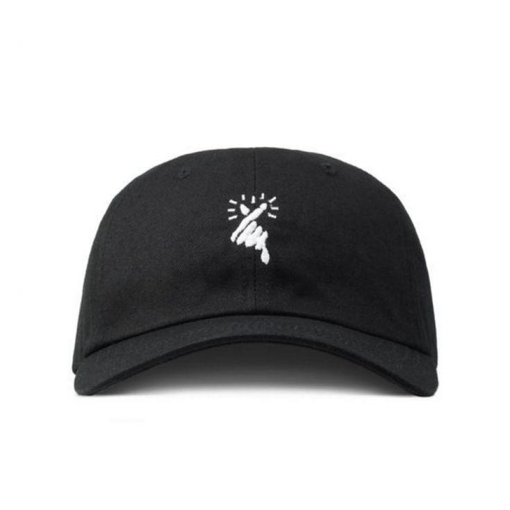 8MM Hearts Love Strapback Hat (Black) #dadcap #korea #headwear #fashion