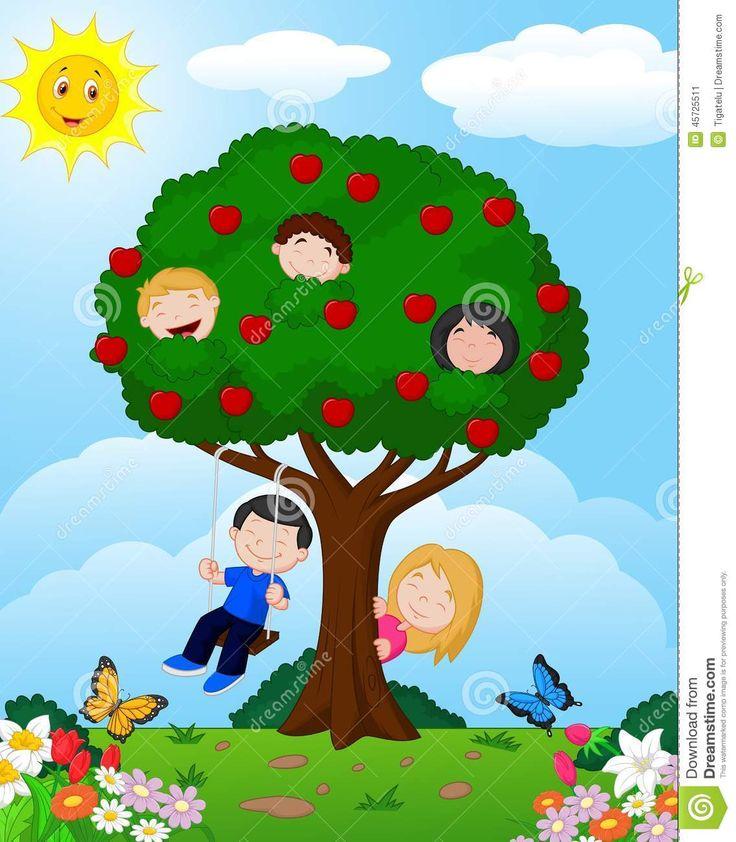 árvore com crianças - Pesquisa Google