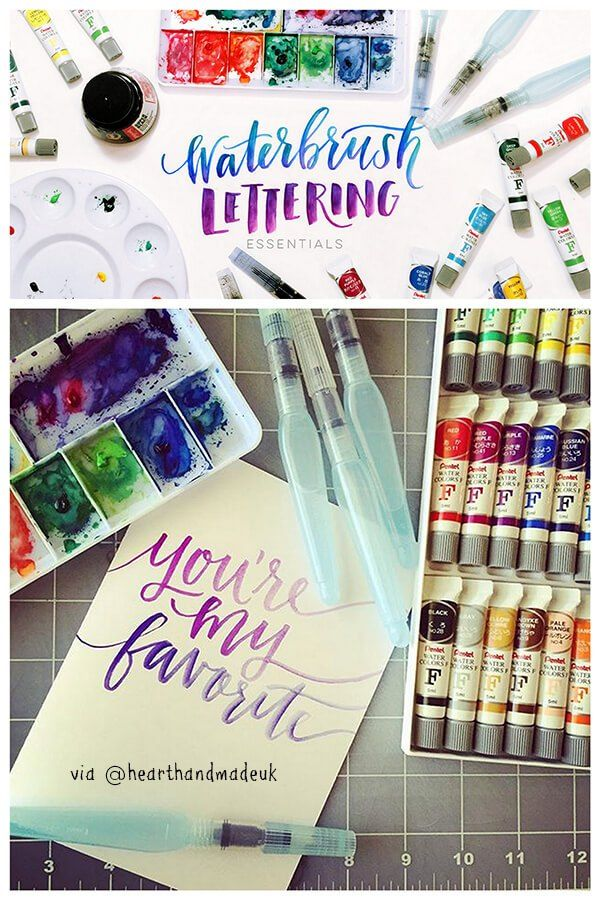 Watercolor Lettering Class. I absolutely love watercolour and I love the fact that there is a class dedicated to waterbrush lettering!  - 5 More Creative Classes I Want To Take Right Now!