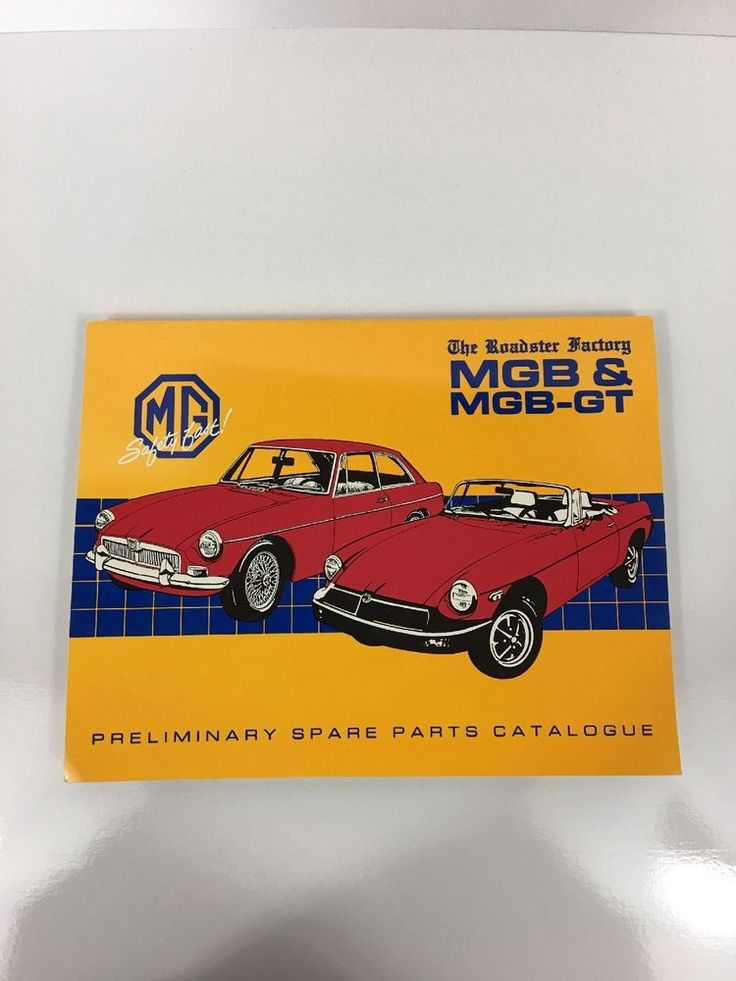 """1989 """"MGB"""" MGB-GT THE ROADSTER FACTORY PRELIMINARY SPARE PARTS CATALOGUE"""