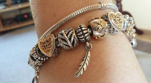 в стиле Пандора Pandora шармы бусины браслеты кольца кулоны подвески клипсы серьги