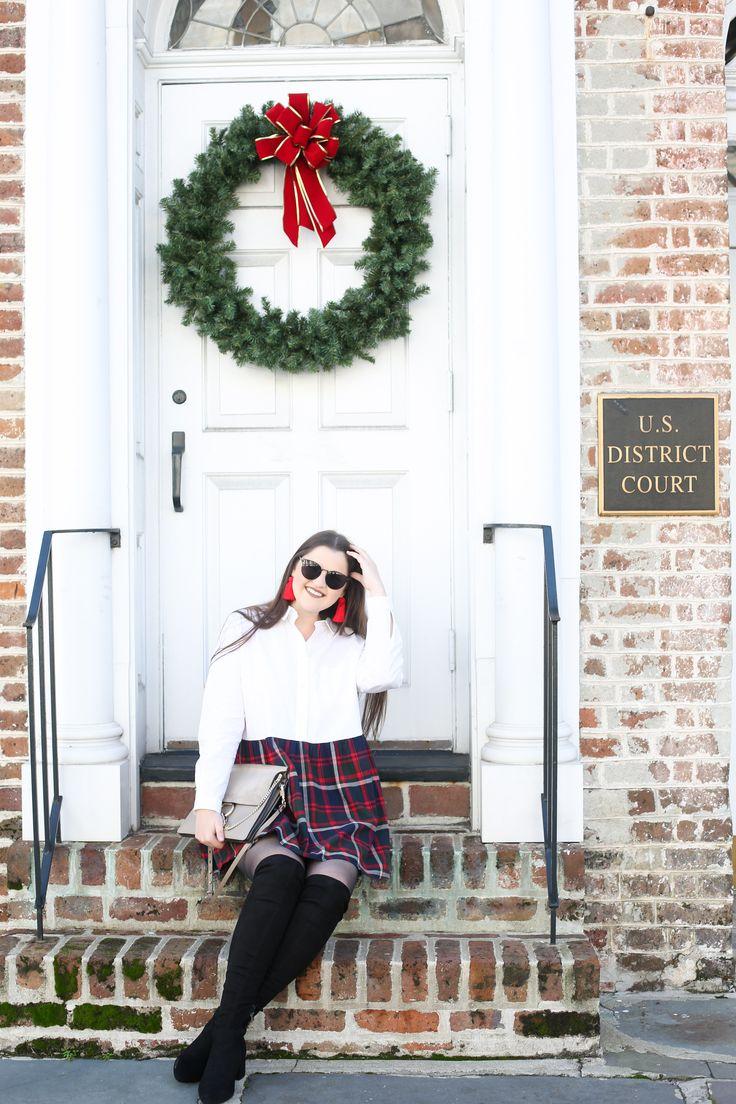 Plaid Picks for the Holidays | Plaid skirt outfit ideas | Plaid miniskirt outfit winter | winter outfit ideas | Feminine style outfit ideas | Plaid sk…