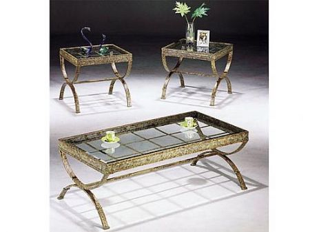 Egyptian Coffee End Table Set By Acme Furniture