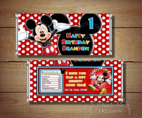 CUALQUIER edad imprimible Mickey Mouse por ThePrintableOccasion                                                                                                                                                                                 Más