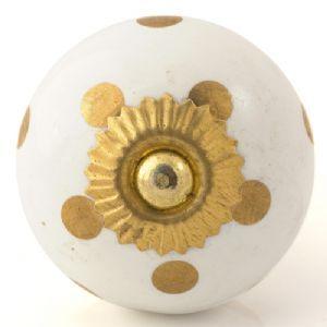 white/gold spots knob