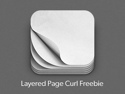 Dribbble - iOS Pagecurl Icon Freebie by Ryan Ford