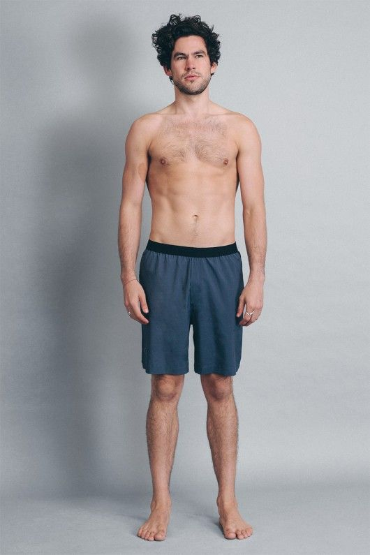 Warrior I Yoga Shorts for Men by OHMME - Men's Yoga Shorts