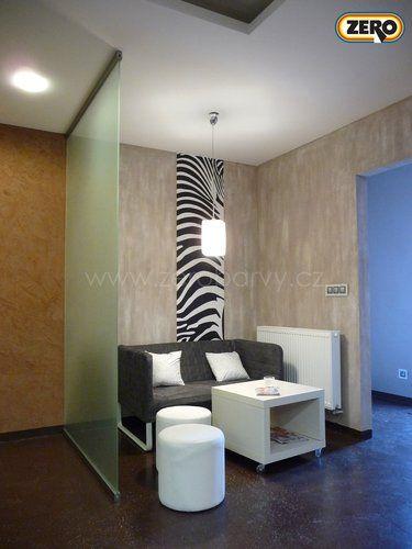 ZERO RenoTop Metallic nanesený na ZERO Streichputz - dokonalá dekorace interiéru