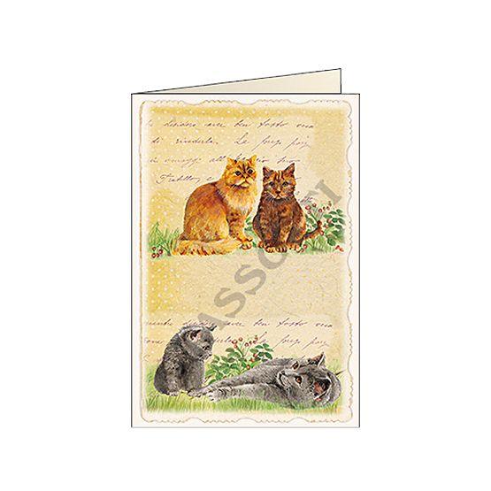 "Biglietti d'auguri Tassotti ""Gattini vintage"" - Greeting cards Tassotti ""Gattini vintage"" - Tarjetas de felicitaciòn Tassotti ""Gattini vintage"""
