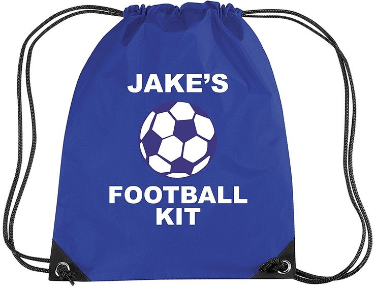 ROYAL BLUE PERSONALISED FOOTBALL KIT with name' Children's Gym/PE/Drawsting Bag (PLEASE GO TO ADD GIFT OPTIONS.....ENTER NAME IN FREE GIFT MESSAGE SECTION...AND SAVE): Amazon.co.uk: Clothing