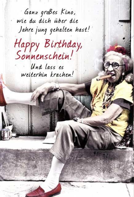 Lustige Grußkarte zum Geburtstag – Happy Birthday Sonnenschein! Grußkarten Anlässe Geburtstag
