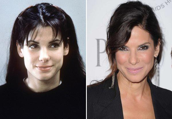 Sandra Bullock Plastic Surgery - Obvious Nose Job - http://plasticsurgerytalks.com/sandra-bullock-plastic-surgery/