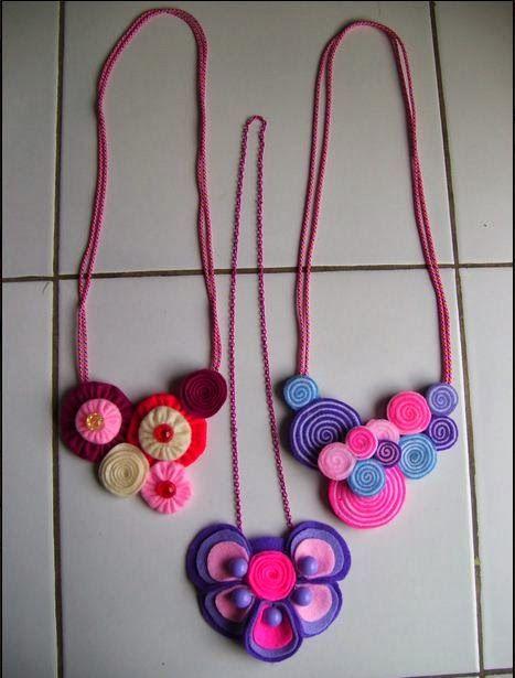 Membuat Kalung Cantik Dari Flanel | Kreasine.com