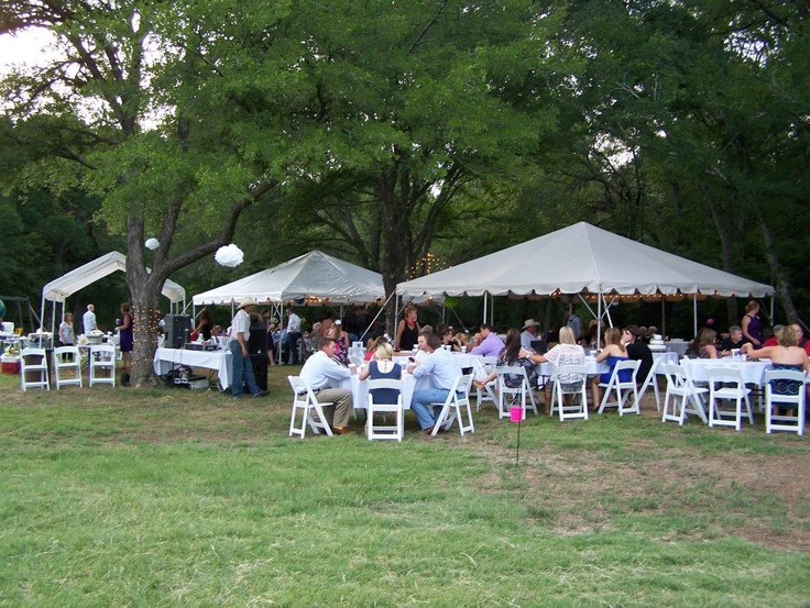 A Backyard Bbq Or Family Reunion Tent Catering