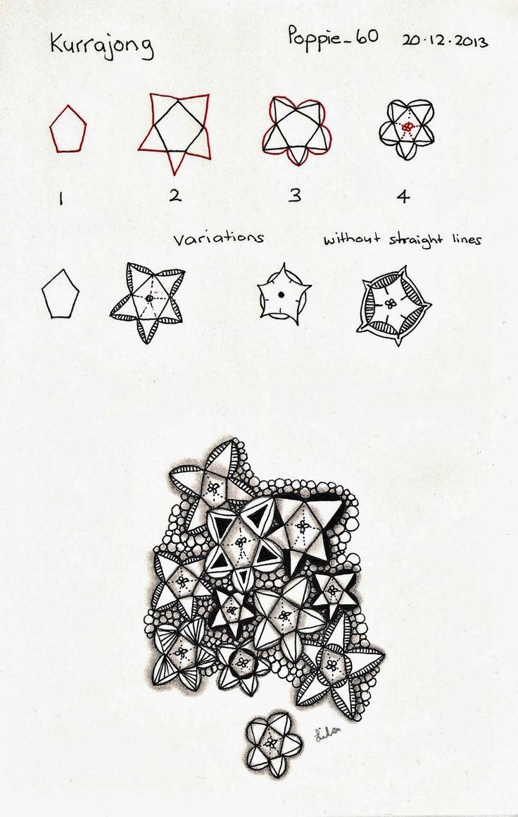 Poppie's Pen Pics ©: Poppie's Patterns... Pretty star Zentangle with variation