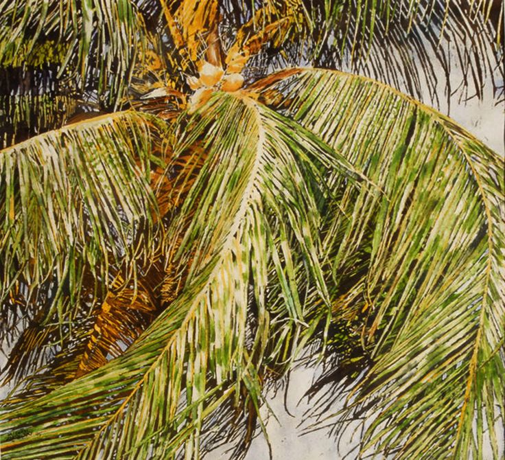 "trade winds  26"" x 26"" micheal zarowsky / watercolour on arches paper (private collection)"