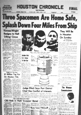 APOLLO 13 NEWSPAPER HEADLINES  Remember watching this at school