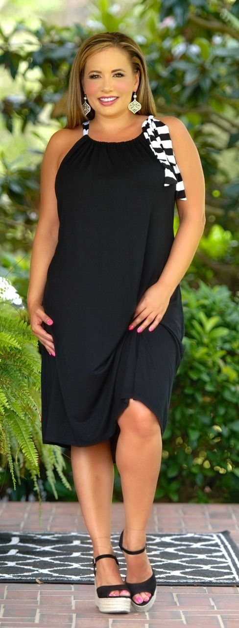 Fashion Line Up Dress - Black - Perfectly Priscilla Boutique