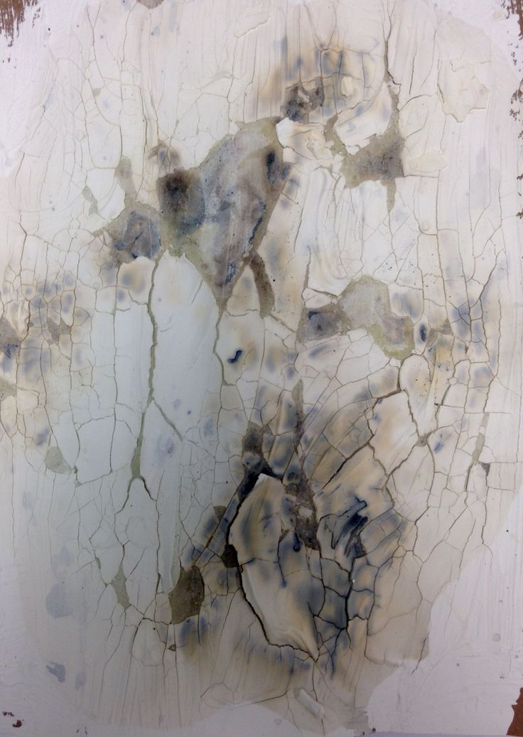 White emulsion with bleach and quink ink.