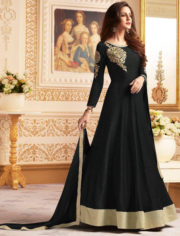 4d284040d9f Beautiful Black Anarkali Suit