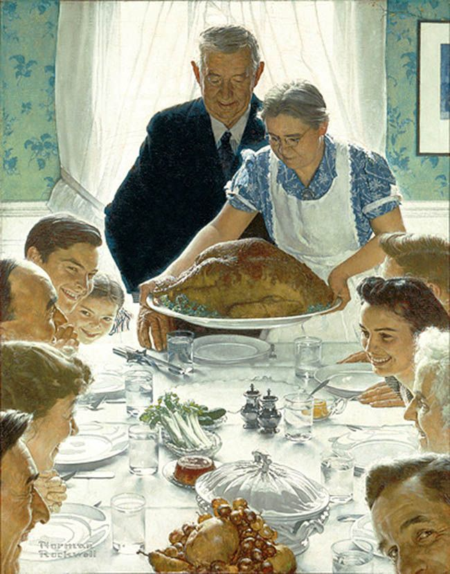 """Norman Rockwell (1894-1978), """"Freedom From Want,"""" 1943. Oil on canvas, 45 3/4"""" x 35 /12"""""""