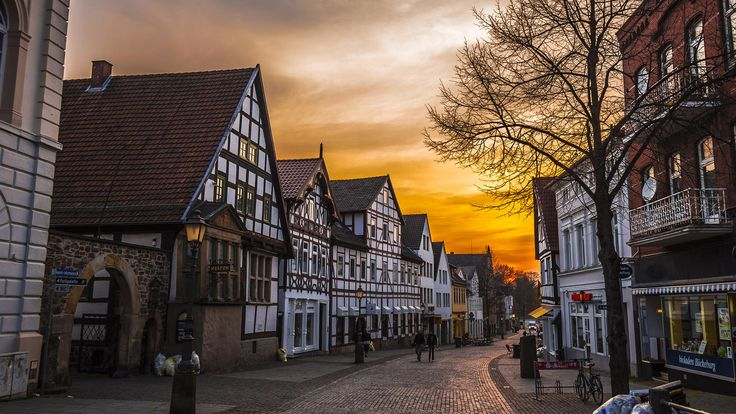 Sunset in Bückeburg Germany