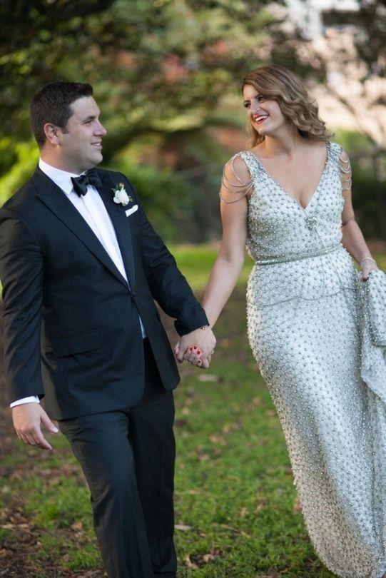 #ArtDeco gown by Johanna Johnson #weddings #weddingdress #bride #adelaideweddings #weddingplanner