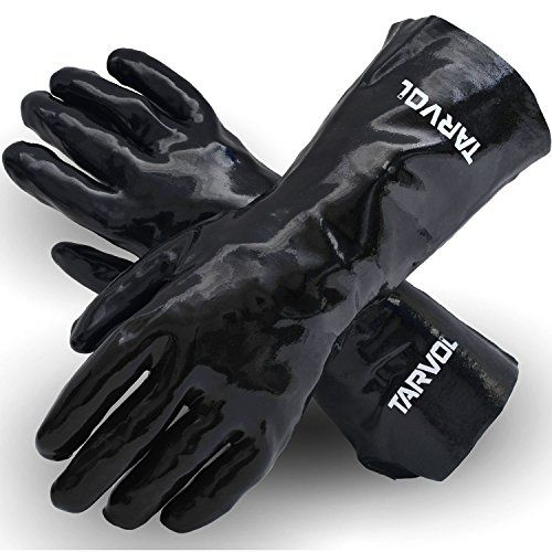 Chemical Resistant PVC Gloves (HEAVY DUTY INDUSTRIAL GRADE) Long Cuff Provides Wrist & Forearm Protection - Perfect for Cleaning and Protection from Acid, Grease, Oil, Lab, Solvents, & More!  ONE SIZE FITS MOST - Designed to Easily Fit Most Hands  WRIST & FOREARM PROTECTION - Long Cuff Style Protects Your Wrist & Forearm from Harsh Chemicals  NONSLIP GRIP - Rough Finish for Handling in Wet & Cold Conditions!  IDEAL FOR PROTECTING YOURSELF FROM CHEMICALS - Including Acid, Solvents, Grea...