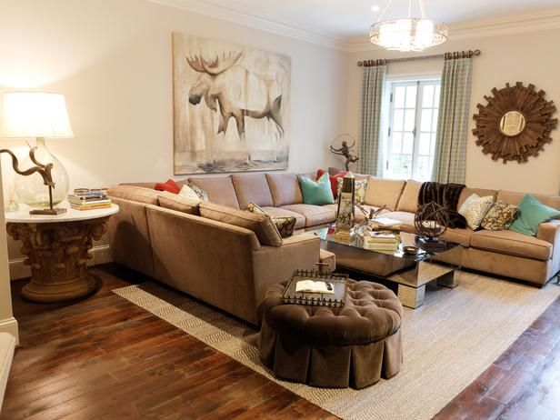 Transitional Living Rooms From Linda Castle On Hgtv Home