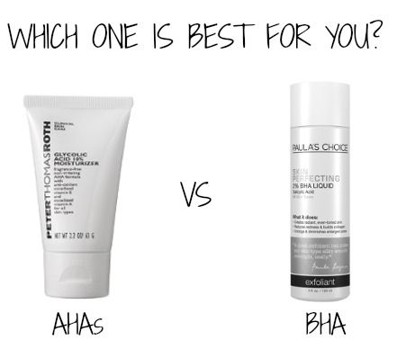 AHAs or BHAs exfoliants: which one is best for you?