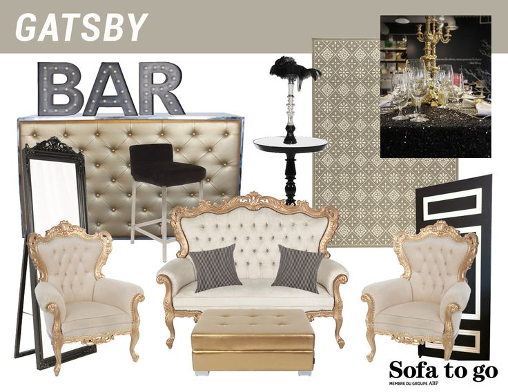 Thématique Great Gatsby / Great Gatsby thematic - Sofa to Go
