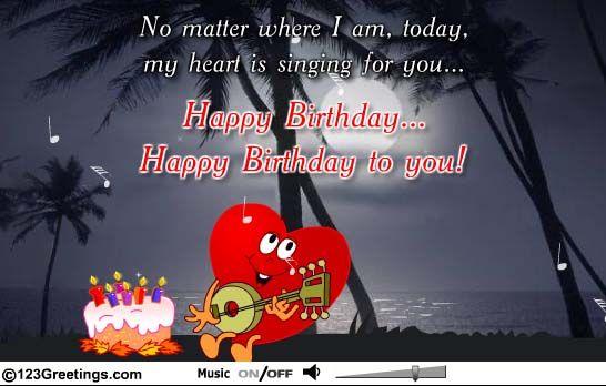 My beautiful singing birthday card from my romantic husband I – Singing Birthday Cards