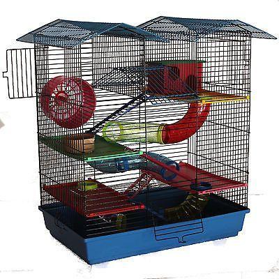 XXL Hamsterburg Hamsterkäfig mit gigantischem Zubehörpaket Mäusekäfig Stall kaufen bei Hood.de