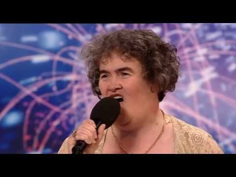 "Susan Boyle singing ""I dreamed a dream"" from Les Miserables"