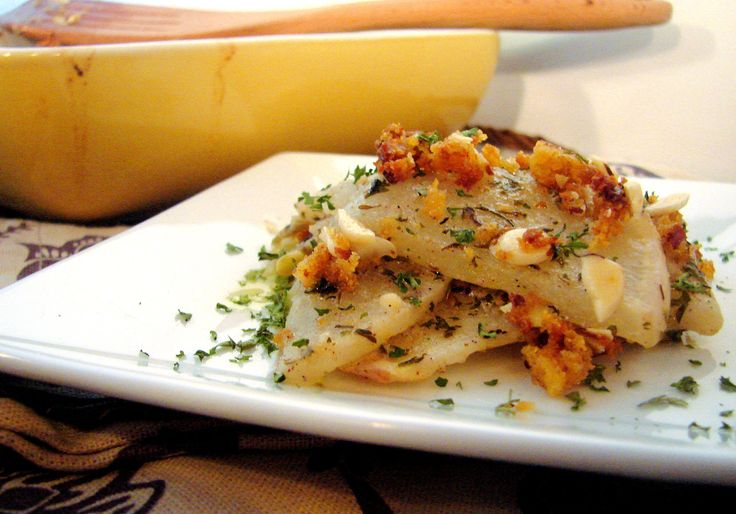 Turnip gratin (made a modified version with sweet potato and turnip ...