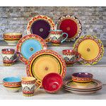 <strong>Galicia 16 Piece Dinnerware Set</strong> by EuroCeramica