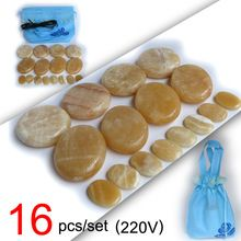 New type! 16pcs/set Hot stone body massager Gong Gade Salon SPA with heater bag 220V //Price: $US $46.88 & FREE Shipping //