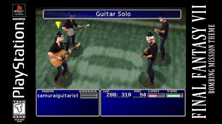 Youtube artist SamuraiGuitarist does music from Final Fantasy VII  I've been a huge fan of Steve Onotera, a Canadian Youtube vlogger and musician, since David posted his earlier video last year.