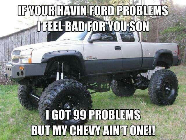 Oh the rivals of Chevy vs Ford! haha www.HammerheadMotorsFL.com 561-444-3190