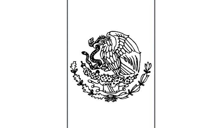 Mexican Flag Coloring Printable   Educative Printable ...