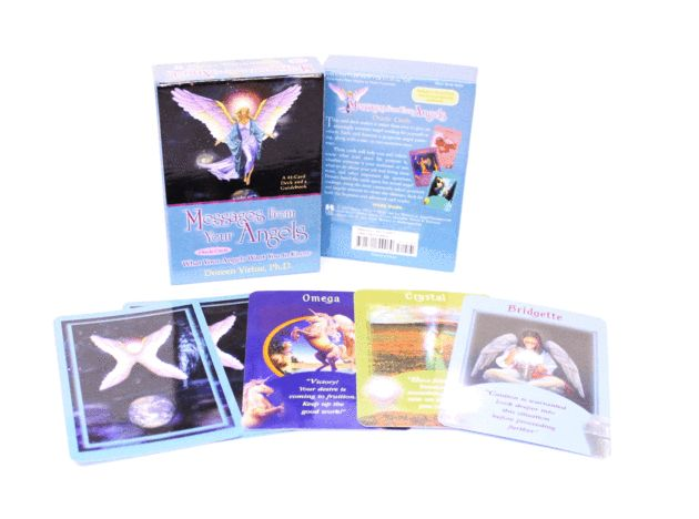 Messages from your Angels - Angel Cards By Doreen Virtue - This is a deck that is accurate and easy to use and is one of our favourites here at The Psychic Tree.    Each card has a unique message from your angels that will help guide you at a particular time in your life.  Easy to read and provides and kind and caring approach.      A 44 card deck that comes complete with guidebook.
