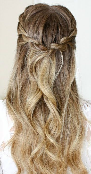 Beautiful wedding hairstyle and bridesmaid hairstyles