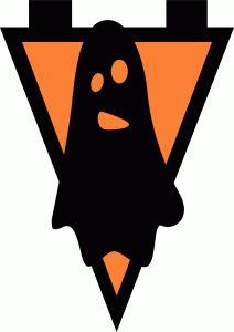 Silhouette Design Store - View Design #50586: ghost banner