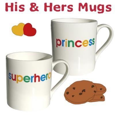 His & Hers Porcelain Mugs