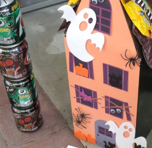 diy haunted house from a shoe box, crafts, diy, halloween decorations, repurposing upcycling
