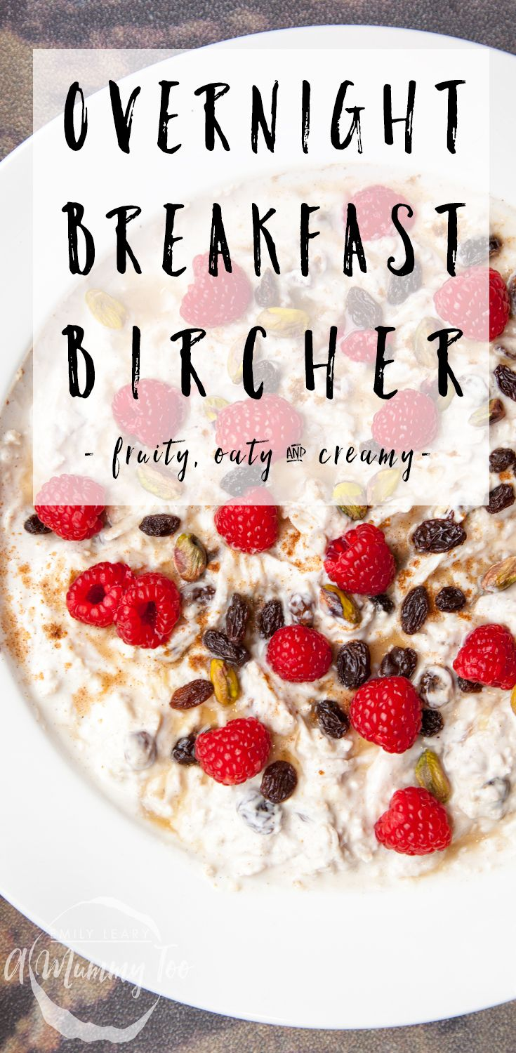 Easy overnight breakfast bircher. Creamy yoghurt, nourishing oats, refreshing fruits and crunchy pistachios make up this nourishing overnight bircher, made all the more delicious with honey and mixed spice.