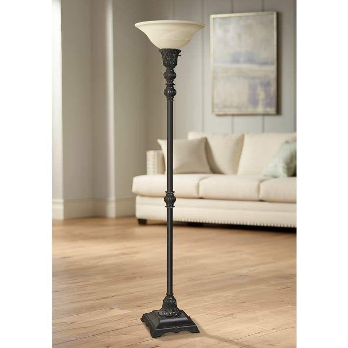 Hampton Bay T20 71 25 In Bronze Torchiere Floor Lamp Torchiere Floor Lamp Lamp Floor Lamp