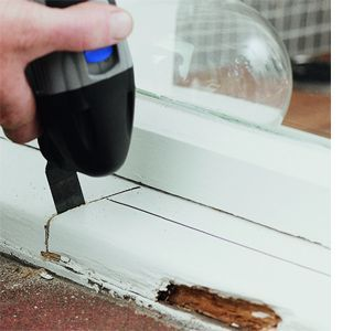 DIY - Repair a rotten wood windowsill with dremel multi ...