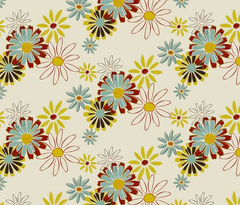 Daisy Chain fabric by milly_dee on Spoonflower - custom fabric